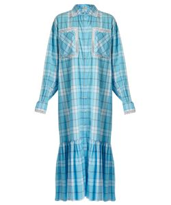Natasha Zinko | Checked Lace-Trimmed Shirtdress