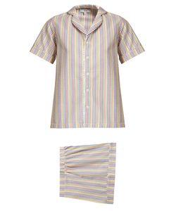 HVN | Alice Striped Seersucker Pyjama Set