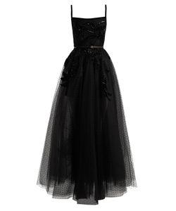 Elie Saab | Square-Neck Embellished Polka-Dot Tulle Gown