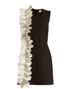 MSGM   Ruffled Stretch-Crepe Mini Dress