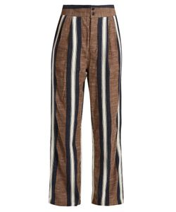 ACE & JIG | Kate Wide-Leg Striped Cotton Trousers