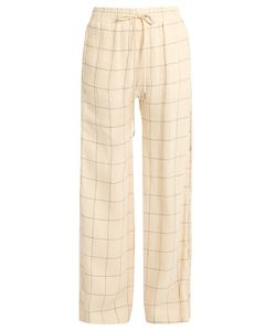Zimmermann | Stranded Threadbare Wide-Leg Linen Trousers