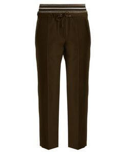 Brunello Cucinelli | Layered-Waistband Wool And Cotton-Blend Trousers