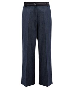 Elizabeth And James | Hudson Wide-Leg Cropped Cotton-Blend Trousers