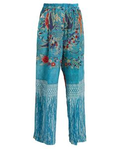 BY WALID | Wide-Leg Silk Crepe De Chine Trousers