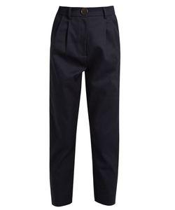 A.W.A.K.E. | High-Rise Cotton Cropped Chino Trousers