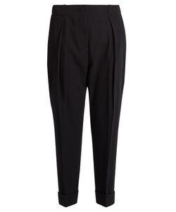 Bottega Veneta | High-Rise Cropped-Leg Wool Trousers