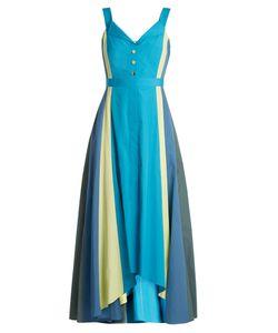 Peter Pilotto | Panelled Cotton-Poplin Midi Dress