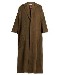 MAFALDA VON HESSEN | Dropped-Shoulder Oversized Linen Coat