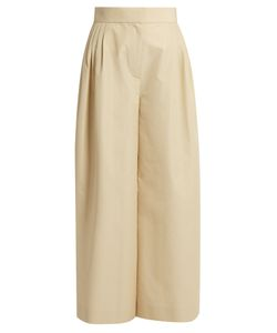 The Row | Lado Wide-Leg Cotton-Blend Trousers
