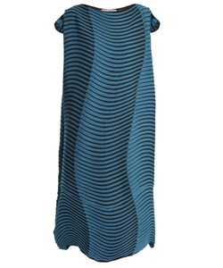Issey Miyake | Plasma 2 Wave Striped-Print Pleated Dress
