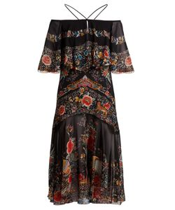 Roberto Cavalli | Ancient Garden-Print Halterneck Silk Dress