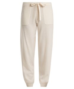 Allude | Tie-Waist Wool And Cashmere-Blend Track Pants