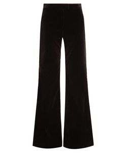 Goat | Countess Wide-Leg Stretch-Cotton Velvet Trousers