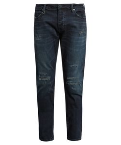 NEUW DENIM | Lou Distressed Slim-Leg Jeans