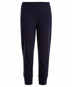 Allude | Mid-Rise Cropped Cashmere Track Pants