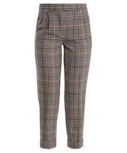 Amanda Wakeley | Prince Of Wales-Checked Stretch-Wool Trousers