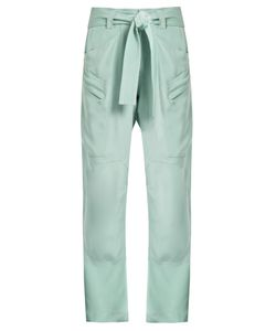 RAEY | Zip-Pocket Silk Combat Trousers
