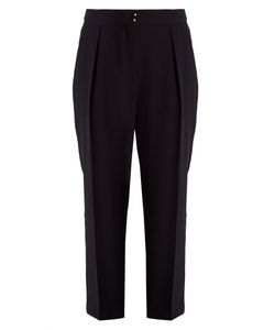 See By Chloe | High-Rise Tapered-Leg Crepe Trousers