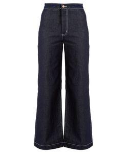 BLISS AND MISCHIEF | Arrow High-Waist Wide-Leg Jeans