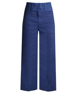 Sea | Wide-Leg Cotton Cropped Trousers