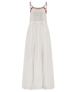 Velvet by Graham & Spencer | Poppy Embroidered Cotton-Voile Midi Dress