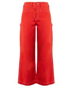 BLISS AND MISCHIEF | Painter High-Waist Fla Jeans
