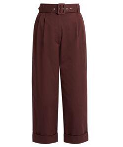 Isa Arfen | Safari Cotton-Blend Cropped Tapered-Leg Trousers
