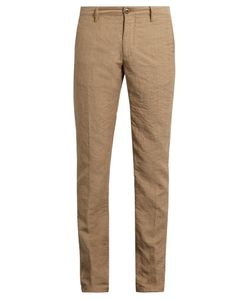 Incotex | Slim-Leg Linen-Blend Chino Trousers