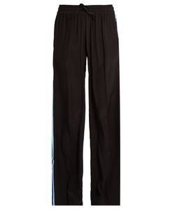 SERENA BUTE | Drawstring Wide-Leg Silk Trousers