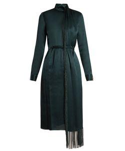 Gabriela Hearst | Kelley Draped Tassel-Trimmed Silk Dress
