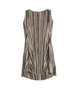 PLEATS PLEASE BY ISSEY MIYAKE | Striped Pleated Sleeveless Top