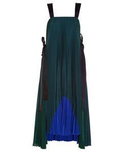 Fendi | Tie-Side Pleated Crepe De Chine Dress
