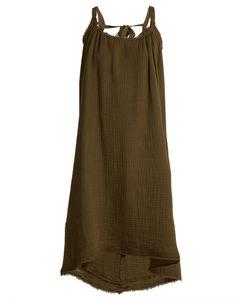 Velvet by Graham & Spencer   Caprice Scoop-Neck Cotton-Gauze Dress