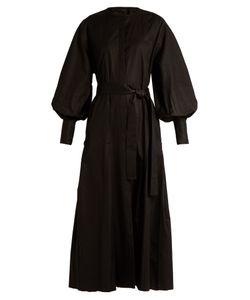 The Row | Crimson Bishop-Sleeved Cotton Dress