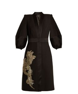 Alexander McQueen | Phoenix And Dragon-Embellished Wool-Blend Dress