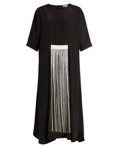 ZEUS + DIONE | Melia Fringed Silk Crepe De Chine Dress