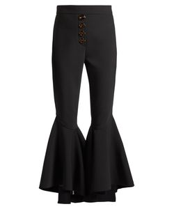 Ellery | Sin City High-Rise Ruffled-Cuff Cropped Trousers