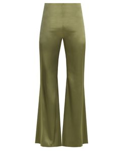 GALVAN | High-Rise Flared Satin Trousers