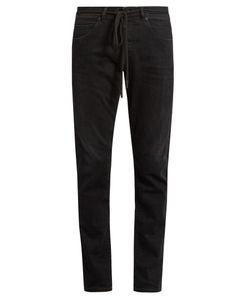 OFF-WHITE   Check-Print Slim-Leg Jeans