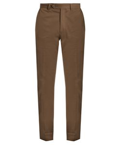 Boglioli | Slim-Leg Stretch-Cotton Trousers