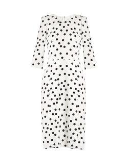 Dolce & Gabbana   Polka-Dot Print Crepe Dress