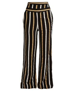 ACE & JIG | Dancin Striped Textured-Cotton Wide-Leg Trousers