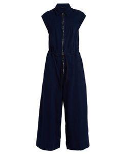 Rachel Comey | Paz Zip-Through Wide-Leg Cotton Jumpsuit