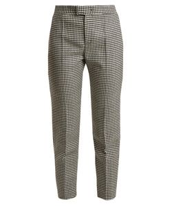 Red Valentino | Slim-Leg Hounds-Tooth Wool Cropped Trousers