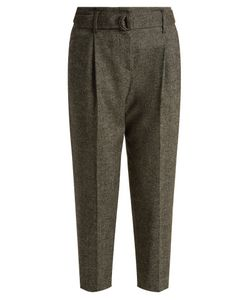 Brunello Cucinelli | High-Rise Wool And Cashmere-Blend Cropped Trousers