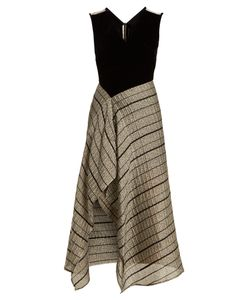 Roland Mouret | Dursley Contrast-Panel Sleeveless Dress