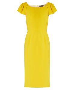 Dolce & Gabbana   Cap-Sleeved Cady Midi Dress