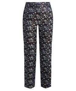 Erdem | Eda Jacquard Flared Trousers