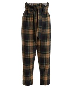 Vivienne Westwood Anglomania | New Kung Fu Wool-Blend Tartan Cropped Trousers